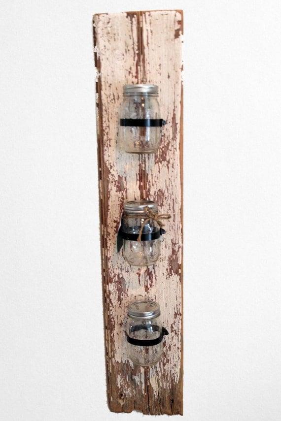 Jar Wall Sconces : Mason jar wall sconce