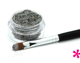 SILVER Cosmetic Glitter for Makeup, Eye Shadow, Lips, Nail Polish, Body Shimmer & Hair Sparkle (A005)
