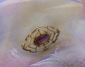 Vintage Pin, Vintage Amethyst, Vintage Brooch, Vintage Jewelry