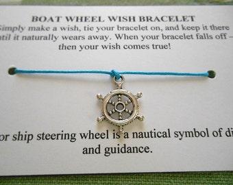 Boat Wheel - Wish Bracelet - Choose your color