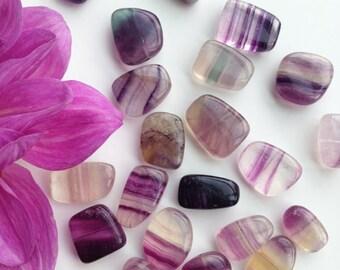 Fluorite Pebbles ,Genuine Fluorite Beads, Vintage Fluorite, 16mm, 12Pcs