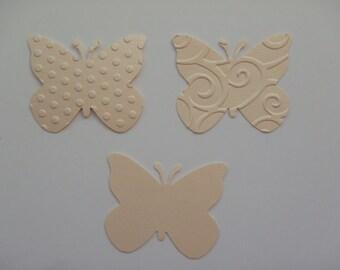 50 butterflies mettalic coral cardstock