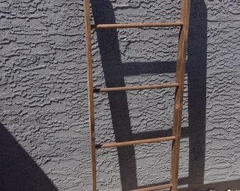 Blanket Ladder (dark walnut) - Home Decor - organization