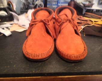 Suede Inca Boot Moccasin With Rubber Soles, Lined Or Unlined.