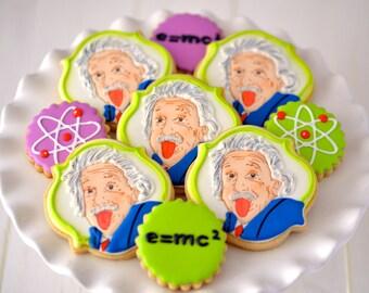 12 Albert Einstein Sugar Cookies