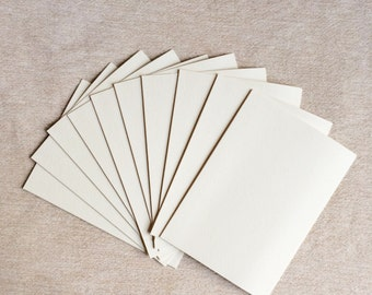 Pack of 10 A6 Folded Notecards [Luxe white]
