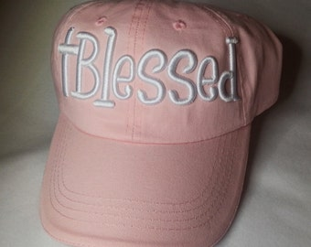 Faith Blessed Puff Embroidered Hat in Assorted Colors