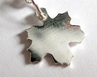 Maple leaf necklace - sterling silver