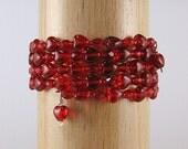 Red Hearts Sparkle Bracelet