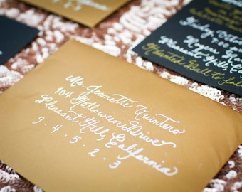 Custom Wedding Calligraphy for Invitation Addressing - Place Cards, Escort Cards, Invitations,Table Signs & Menus Also Available