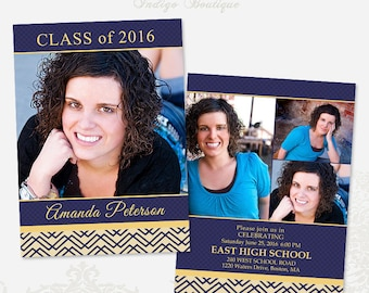 Senior Graduation Announcement Template for Photographers 010 - ID189, Instant Download
