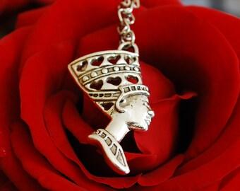 Silver Queen Nefertiti pendant Nefertiti necklace Nefertiti jewelery Egyptian jewelery Egpytian necklace African jewelery