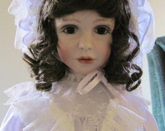 Modern Porcelain Doll - Kallie by Jane Zidjunas-handmade exquisite doll gorgeous face & dressing.