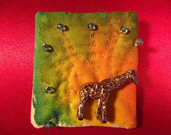 Exotic Giraffe Pin Brooch