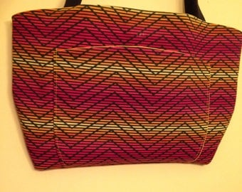 Chevron Shoulder Bags/Purses with large front pocket