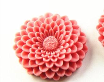 12pcs of 12colors of resin chrysanthemum cabochon 35x35x8mm-rc0064-dark pink