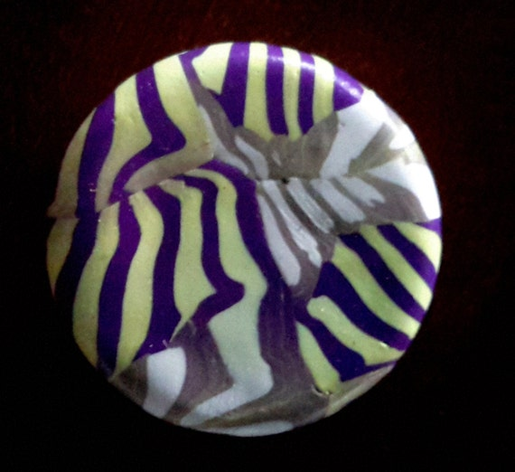 Lip Balm with Reusable decorative lid with purple and cream and yellow stripes . Makes a great  gift for under 10 dollars.
