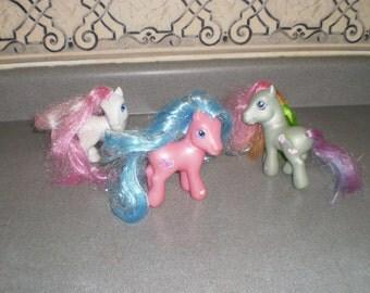 Set of Three My Little Ponys