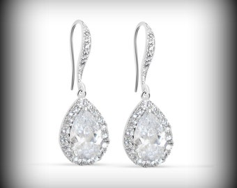 Crystal Bridal Earrings Wedding Jewelry Swarovski Crystal Wedding Earrings  Earrings Bridal Jewelry Crystal Drop Bridal
