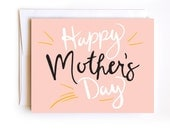Happy Mother's Day Card - Confetti Card - Hand Drawn Card - Hand Lettered Card