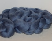 Polish Merino, Country Blue Colonial Blue, 4 oz, Combed Top, Roving, Spinning or Felting