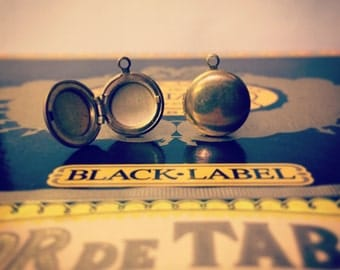 Raw Brass Locket Cuff Links