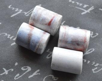 porcelain multi color round tube 20x15mm