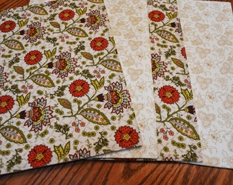 Placemats, Set of 4, Floral, Tablemats, Dining table mats, Kitchen table mats, Ready to ship