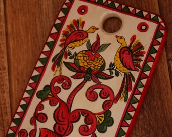 """Wooden cutting board in Russian style """"Birds of Paradise"""""""