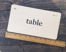 table • vintage flash card • Winston Reader word card • 1920's ephemera