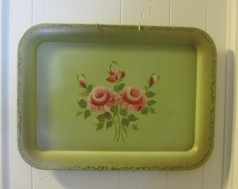 Hand painted Tole Tray