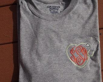 Monogrammed Stethoscope Long Sleeved Shirt