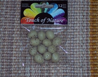 mini speckled eggs,0.5 inch,plastic,12/pkg, craft eggs,spring,Easter,Touch of Nature