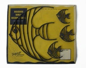 Mid Century fish wall decorations, Atomic 50s Made in USA