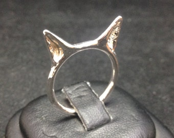 Cat Ears Ring in Silver with Custom Finish