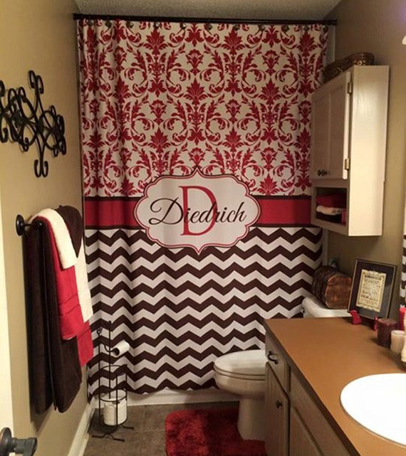 paris pink monogrammed shower curtain