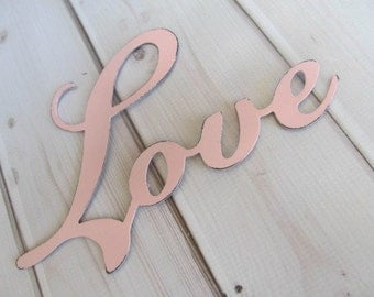 LOVE sign metal signage Wall Art Hanging Decor Rustic Wedding Baby Girl Room Nursery Pink Frame Set Shabby Cottage Chic You PICK COLOR