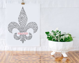 Louisville Fleur-de-Lis Illustration Print