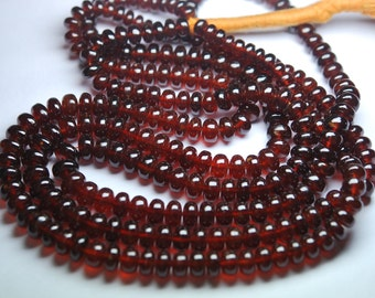 330 Carats,18 Inches Strands, Super AAA Quality,Large Orange Hessonite Garnet Smooth Rondelles,6.5-9mm