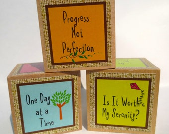 Serenity Cubes I (pastels) for 12 Step Programs and Everyone Else (Shipping Included)