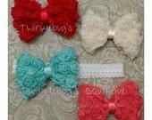 Rosette Bow Headband (Multiple colors)