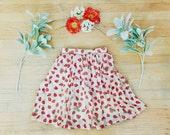 The Ladybug Pleated Summer Swing Skirt