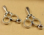 15pcs Antique Silver Scissors Charms pendants jewelry findings Sewing Charm 13*28MM