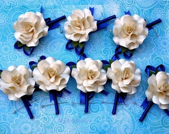 Paper Rose Boutonniere