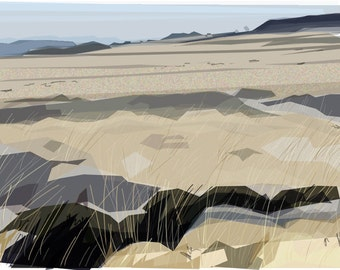 Under White Edge  .. limited edition giclee print, mounted