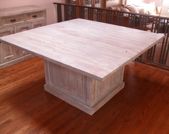 Custom made Dining table from reclaimed wood made in the USA