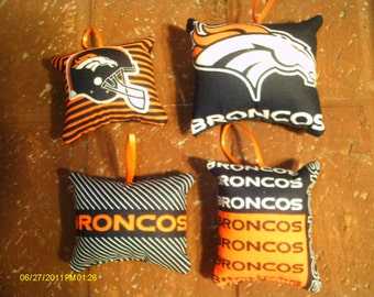 Denver Broncos Ornaments - Set of 4