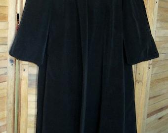 Vintage Black Opera Coat