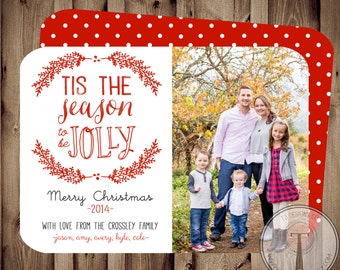 Photo Christmas Card, holiday card, Christmas card, family photo card, Holiday cards, merry and bright, Christmas card, photo holiday card