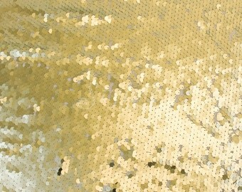 All-over Round Gold Sequins Fabric by the yard Sequins - 1 Yard 2707